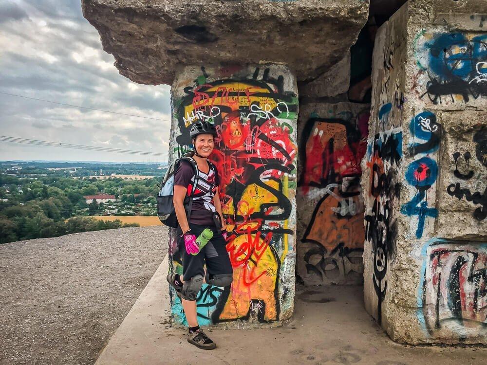 Sabrina von Couchflucht an der Schurenbachhalde in Essen