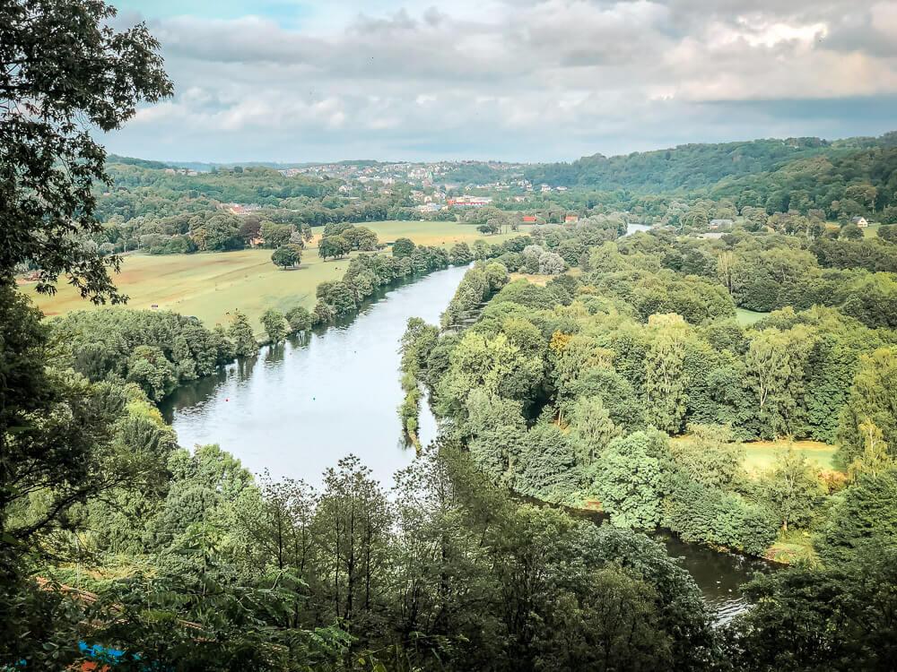 Ausblick auf die Ruhr vom Schellenberger Wald im Essener Süden