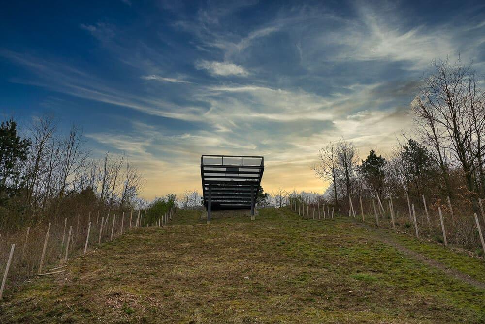 Aussichtsbalkon auf der Halde Hoheward in Herten