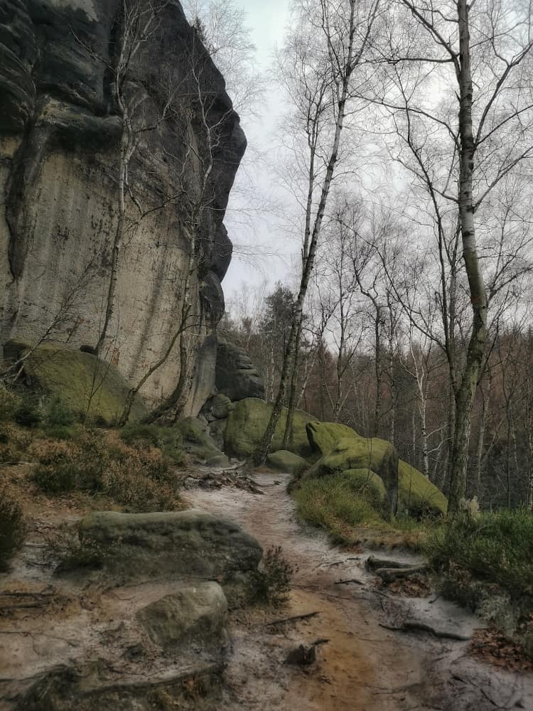 Wanderweg am Frienstein zur Idagrotte in der Sächsischen Schweiz