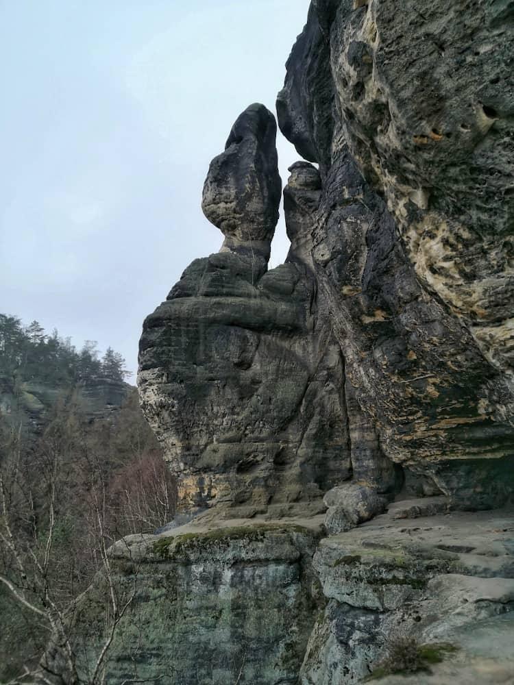 Wanderweg zur Idagrotte am Frienstein in der Sächsischen Schweiz