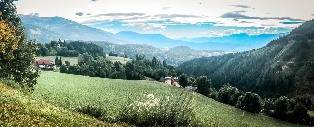 Bergidylle in der Nähe des Hühnersberg auf Alpe Adria Trail Etappe 10