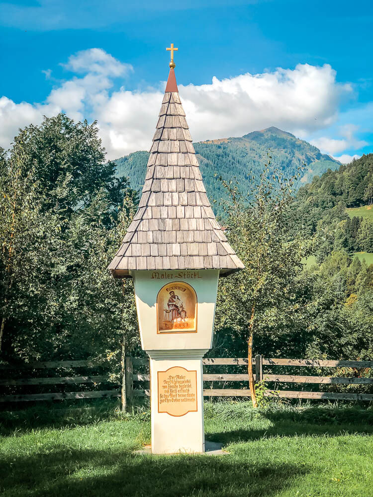 Marterl Wegekreuz Maler Stöckl Alpe Adria Trail Etappe 11