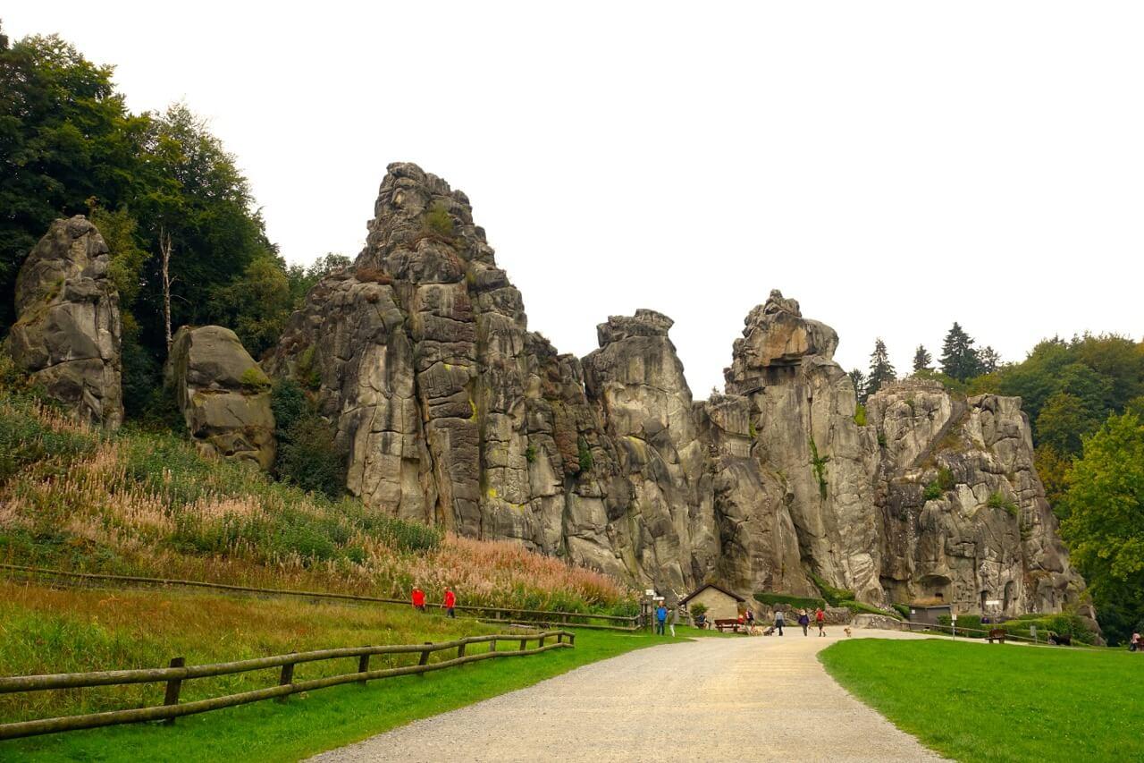 Wandern NRW-Felsformationen der Externsteine im Teutoburger Wald
