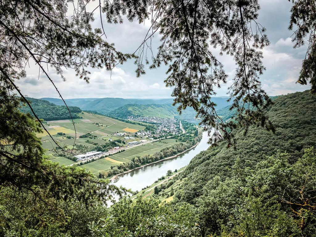 Moselpanorama vom Aussichtspunkt Birkensteinchen