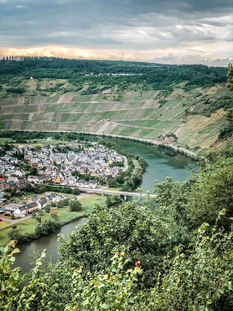 Wandern Mosel Moselsteig Etappe 12 Aussichtspunkt Rabenwerk