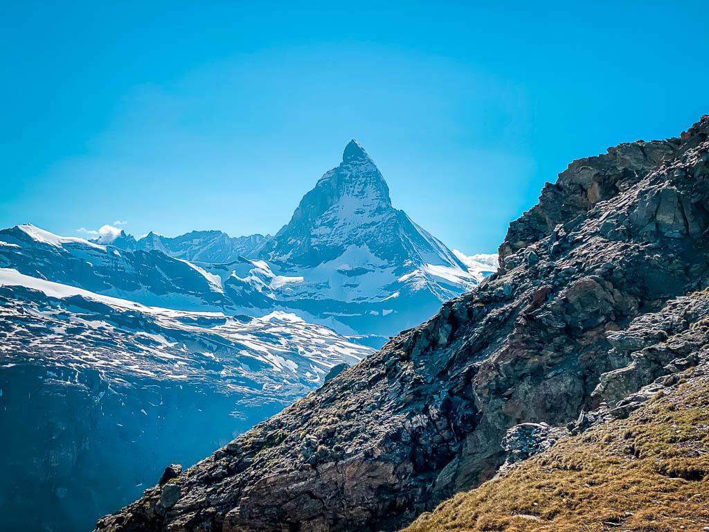 Blick auf das Matterhorn vom Gornergrat in Zermatt