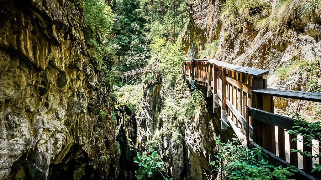 Steganlage an der Gornerschlucht in Zermatt