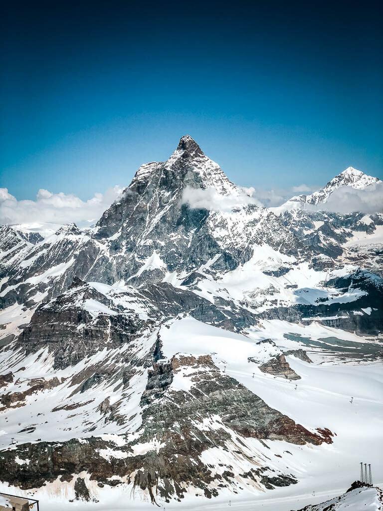 Bergpanorama vom Gipfel des Klein-Matterhorns