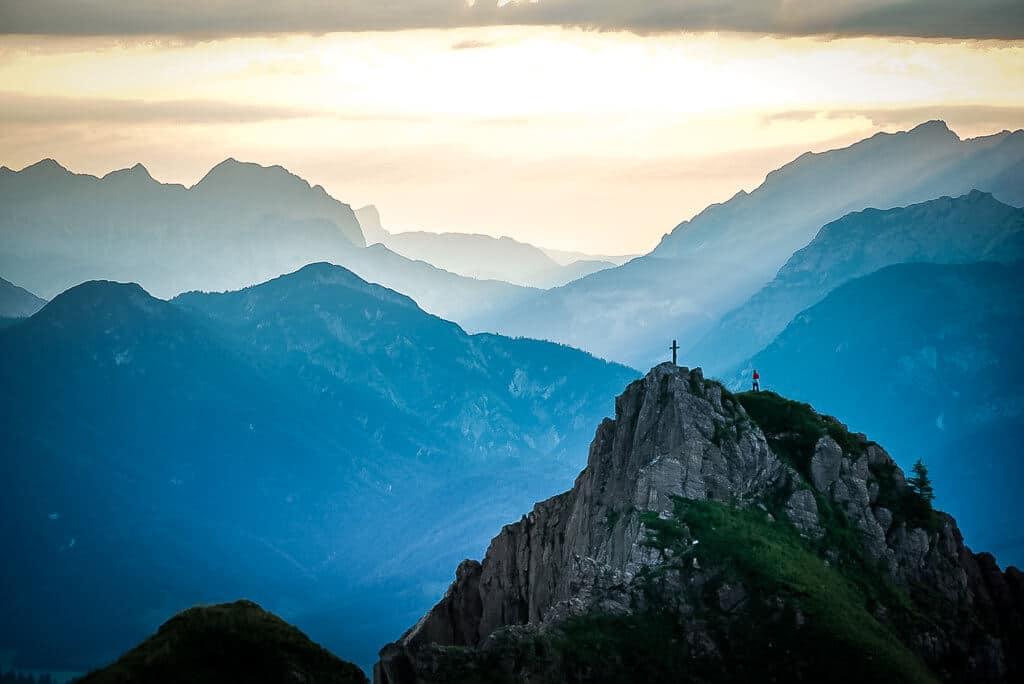 WaiWi Bergpanorama von der Henne mit Blick auf den Marokka Gipfel