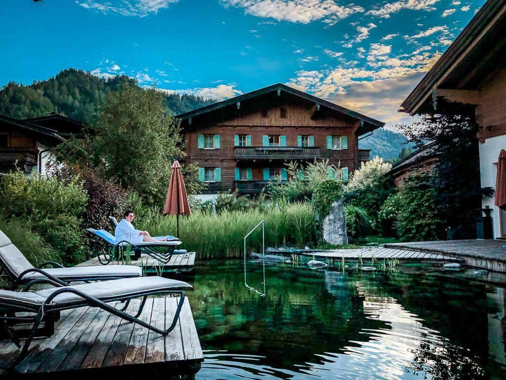Naturbadeteich Wellness Hotel Waidringer Hof im Pillerseetal