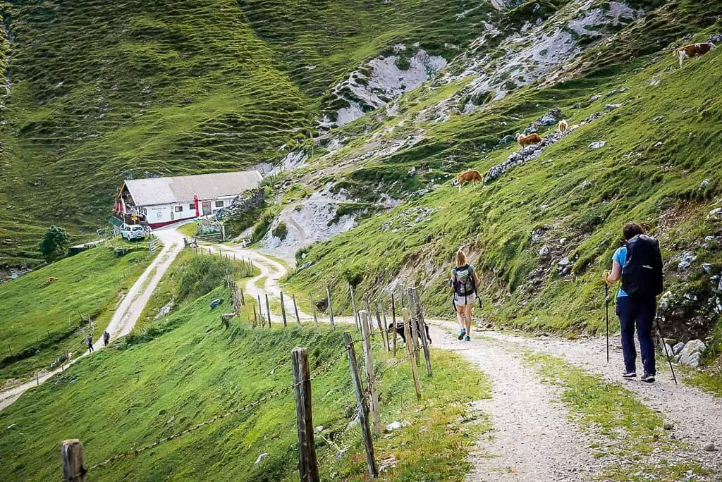 WaiWi Wanderweg Mehrtagestour Etappe 1 - Weg zur Winterstelleralm