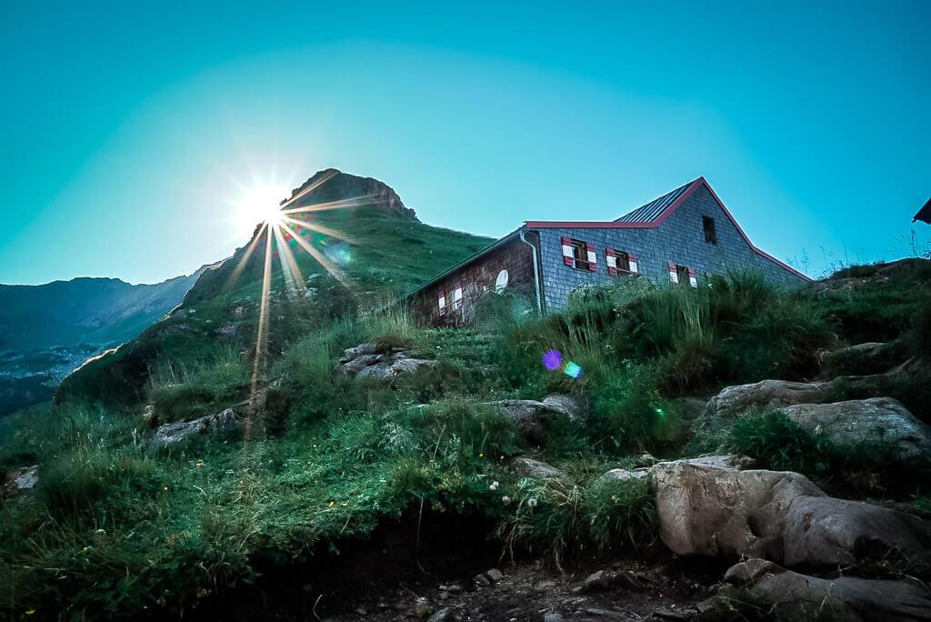 Sonnenuntergang am Wildseeloder und Wildseeloderhaus auf dem WaiWi