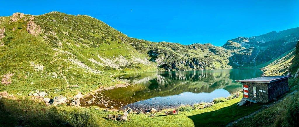 Wildseeloderhaus Bergsee auf dem WaiWi - Mehrtagestour im Pillerseetal