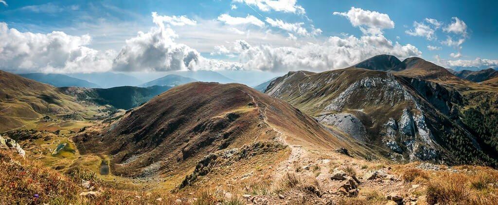 Alpe Adria Trail Nockberge Landschaft in Kärnten
