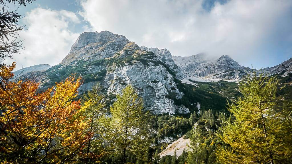 Triglav Nationalpark Alpe Adria Trail Bergpanorama