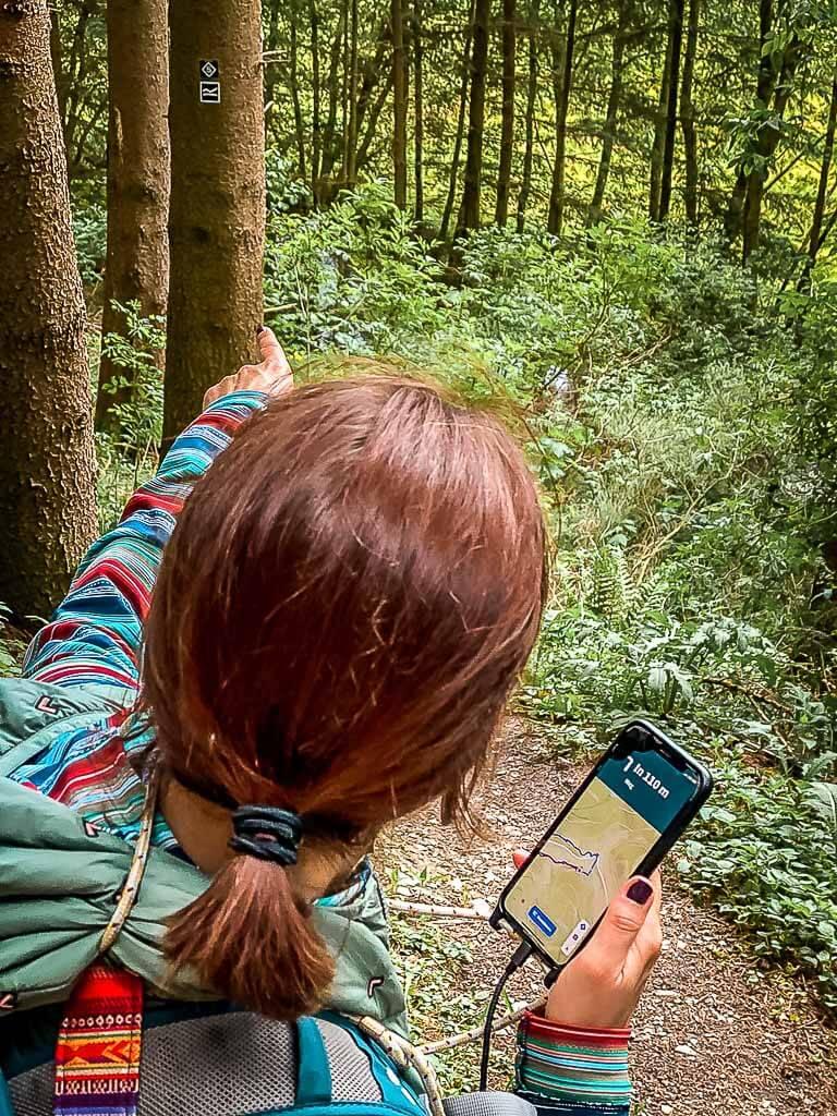 Navigation mit der Komoot App über das Smartphone