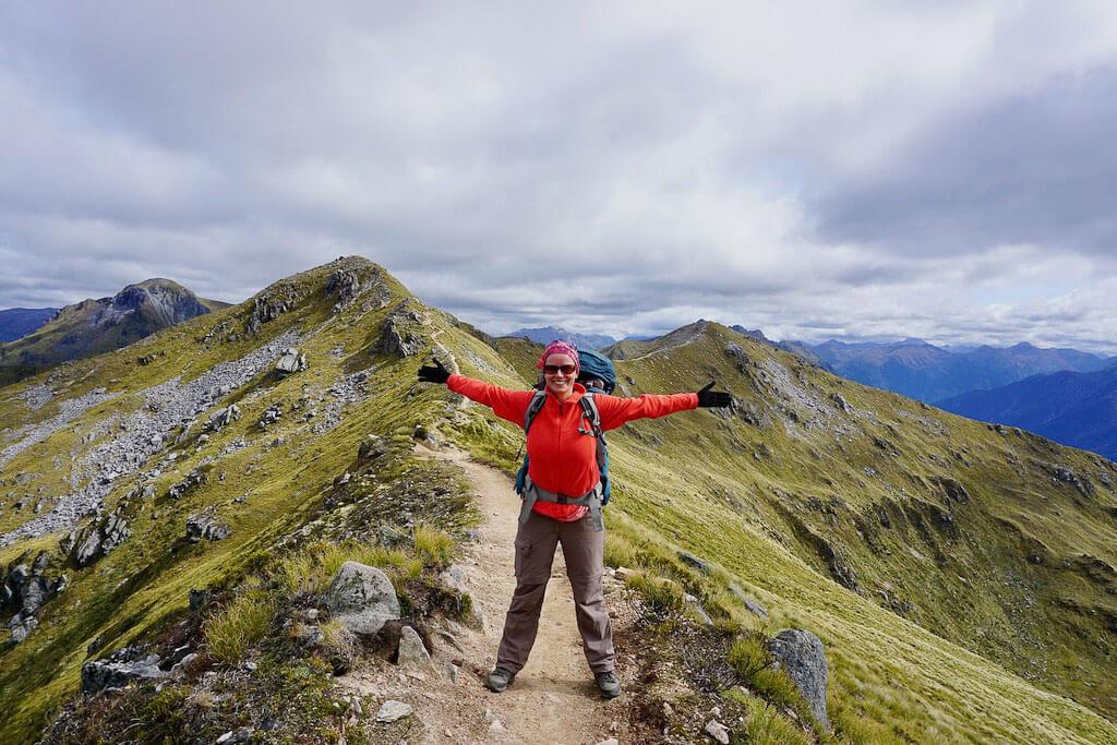 Wandercoach Christin Berges auf dem Wanderweg Kepler Track in Neuseeland