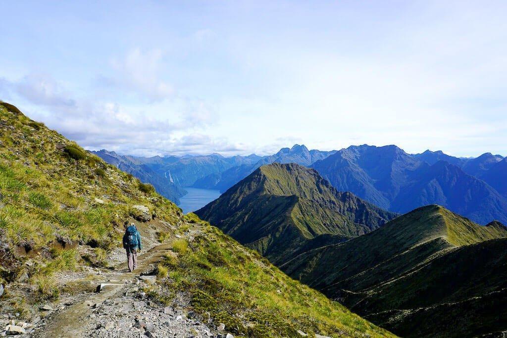 Christin Berges unterwegs auf dem Wanderweg Kepler Track in Neuseeland