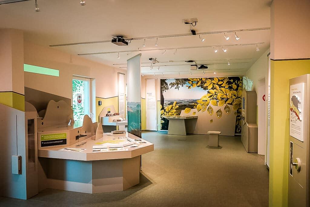 Multimediale Ausstellung im Infozentrum des Naturparks Südharz in Neustadt
