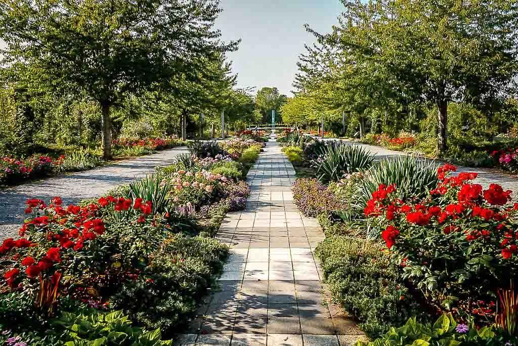 Gartenanlage im Europa Rosarium bei Sangerhausen