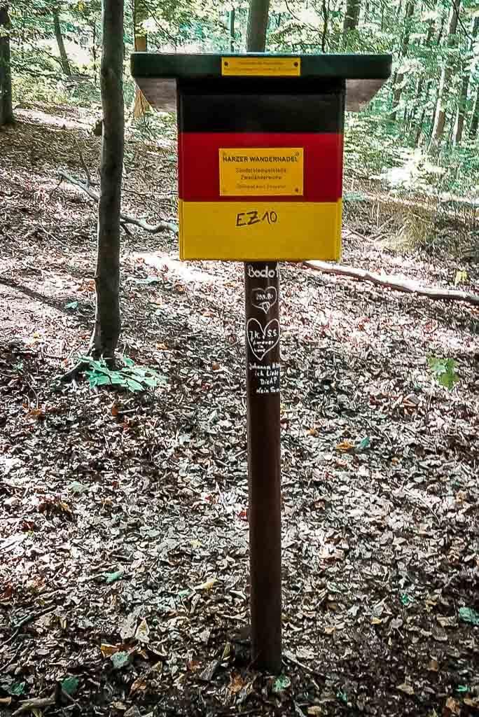 Stempelstelle der Harzer Wandernadel auf dem
