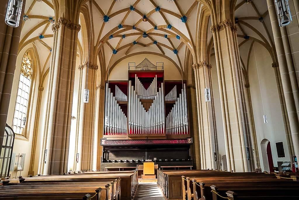 Die Orgel des Doms von Nordhausen, Thüringen