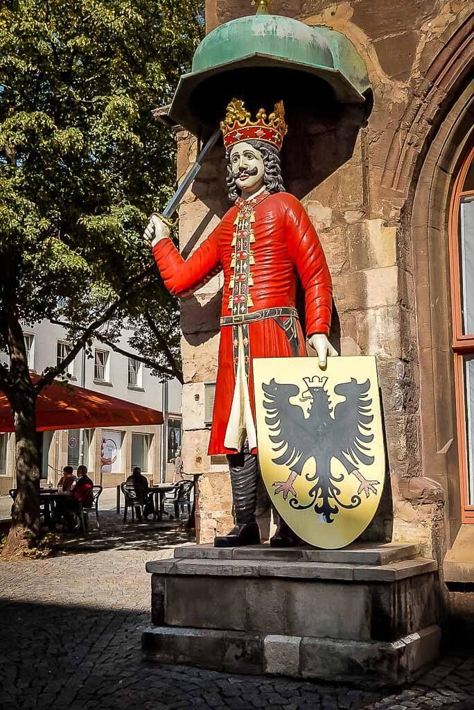 Nordhäuser Roland Statue in Nordhausen in Thüringen