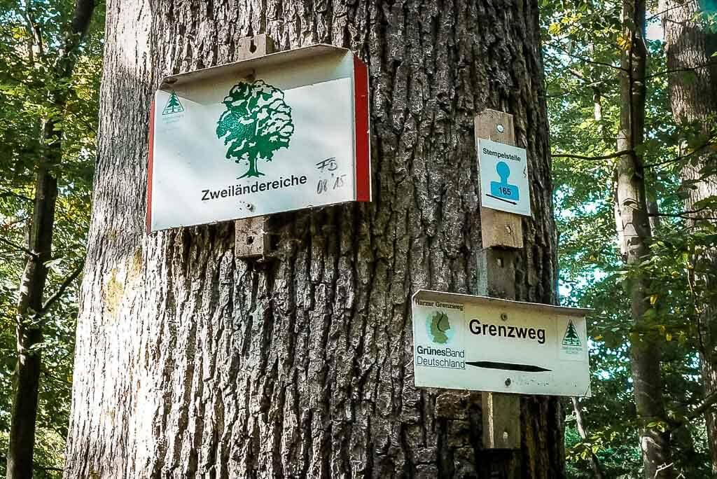 Zweiländereiche bei Ellrich auf dem Harzer Grenzweg - Grünes Band Deutschland