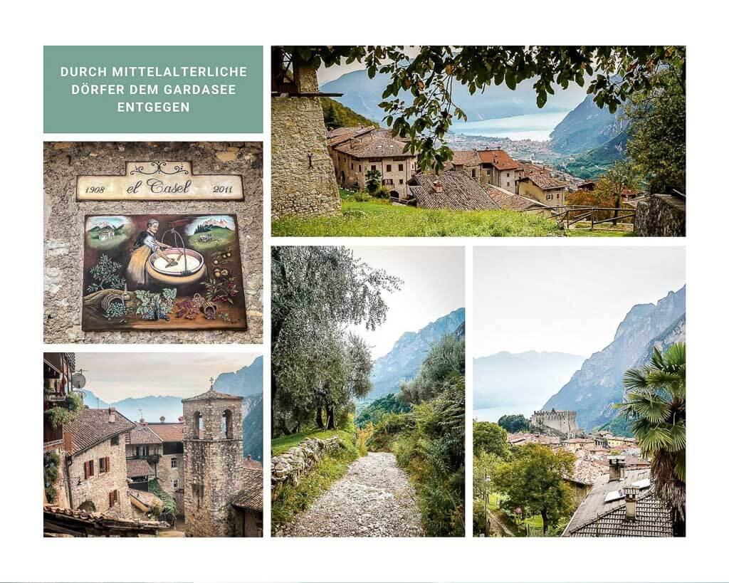 Die mittelalterlichen Dörfer Calvola und Tenno auf der Wanderung von Meran zum Gardasee