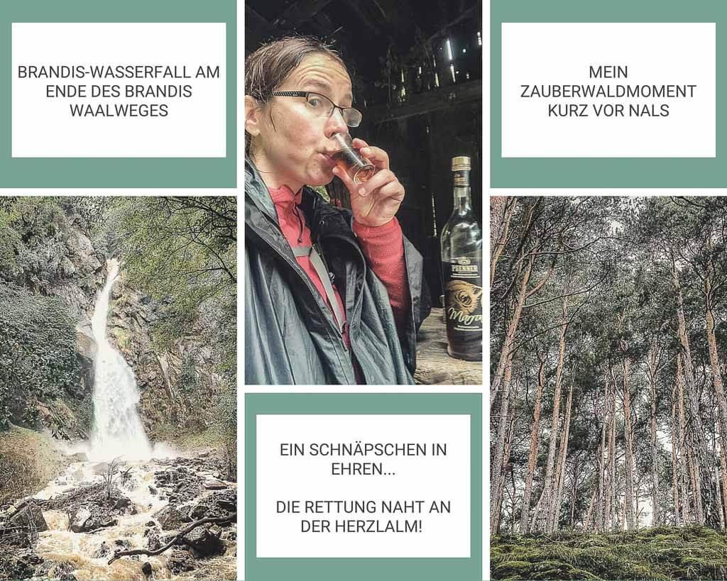 Brandis Wasserfall und Wanderweg bei Nals