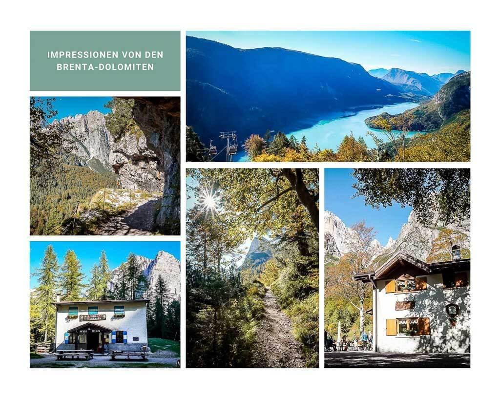 Landschaft in den Brenta Dolomiten bei Molveno auf der Pradel Hochebene