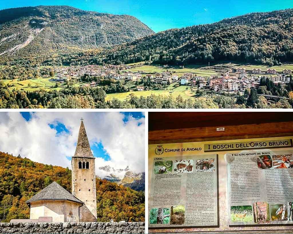 Val di Non im Trentino - Kirche bei Cavedago