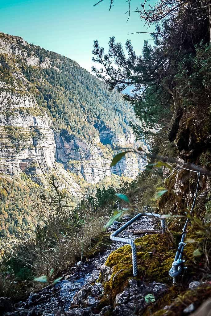 Via Ferrata-Klettersteig zwischen Rifugio Selvata und Malga Andalo