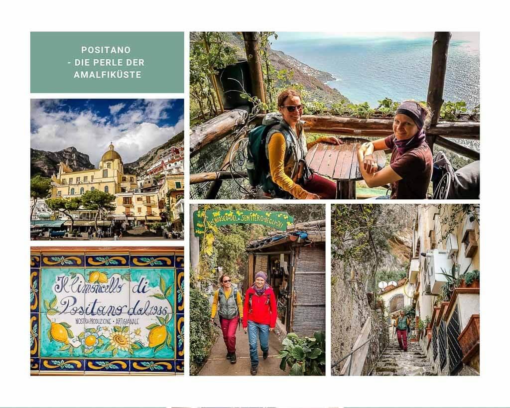Couchflucht wandert nach Positano an der Amalfiküste in Kampanien