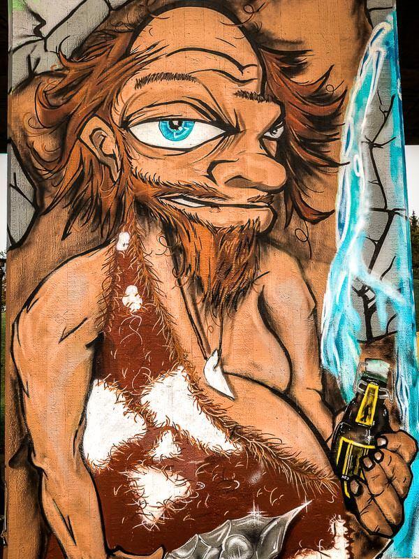 Streetart Neandertaler in Erkrath und Mettmann