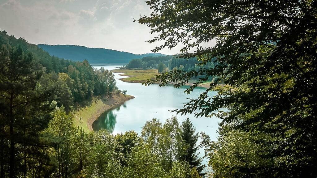 Wandern im Bergischen Land -Dhünntal-Vorsperre