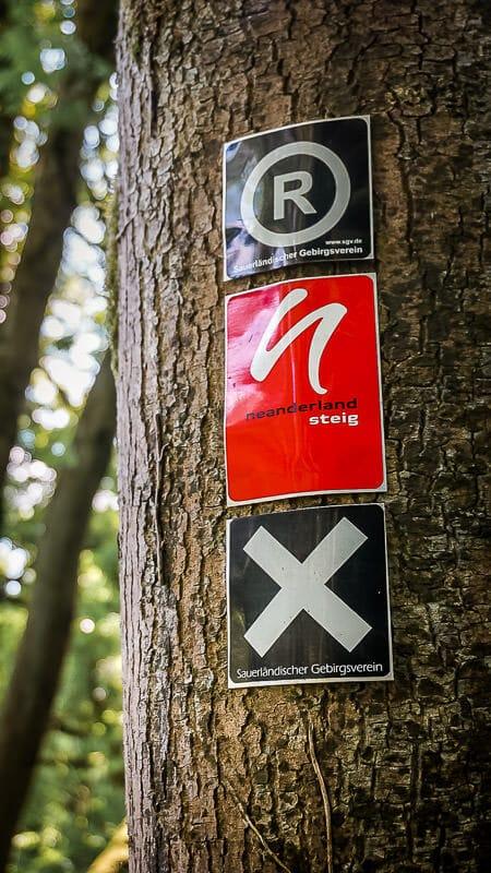 Bergisches Land Wandern - Neanderlandsteig Markierung