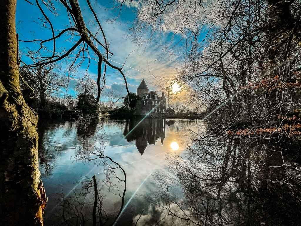 Wandern im Bergischen Land- Wasserschloss Linnep in Ratingen
