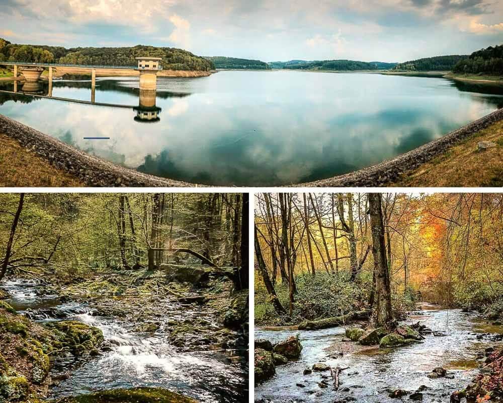 Wandern Bergisches Land - Dhünntalsperre und Wanderwege an den Bächen Dünn und Linnefe