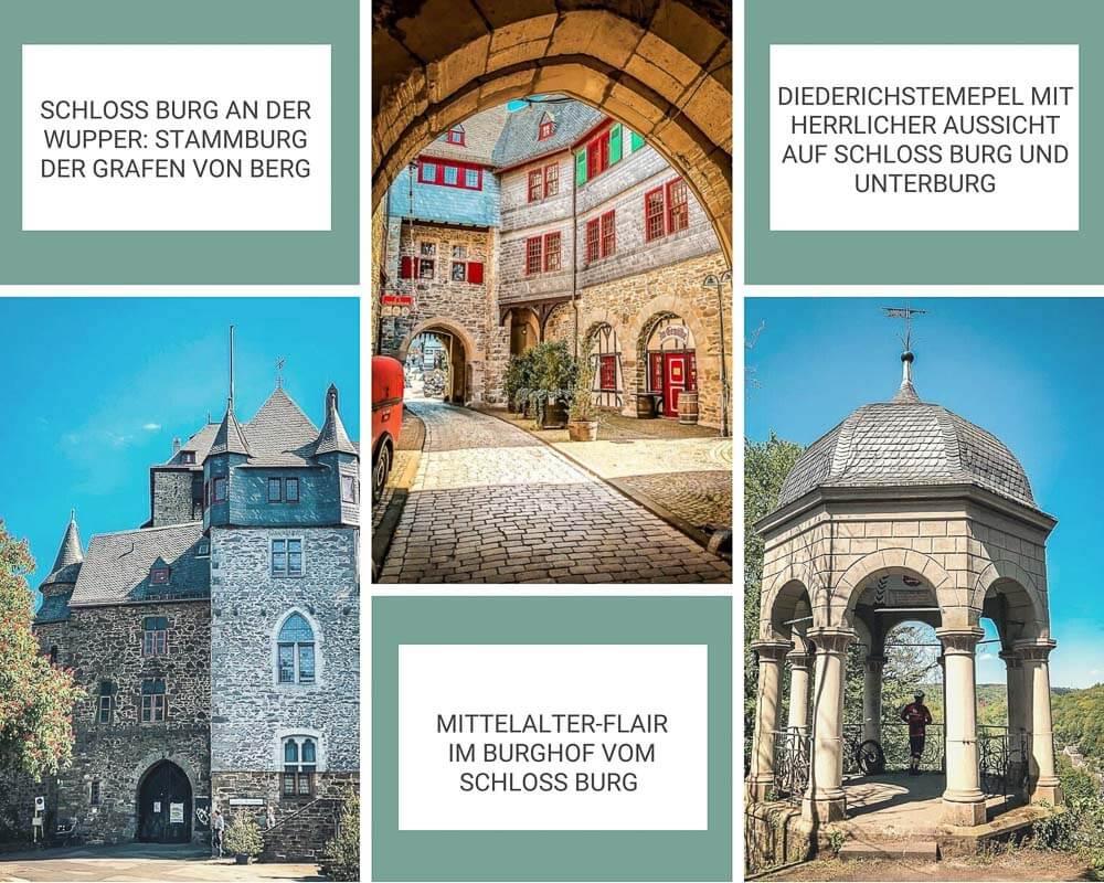 Wandern Bergisches Land Schloss Burg in Solingen an der Wupper