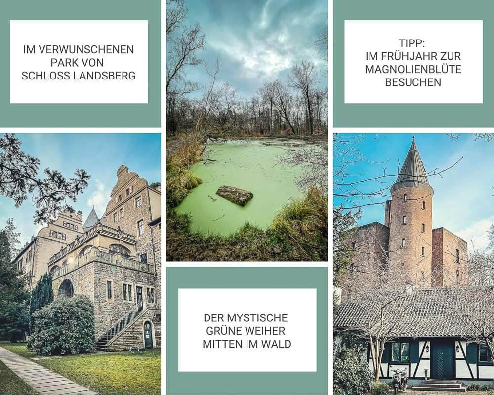 Wandern Bergisches Land Schloss Landsberg Ratingen und Essen Kettwig