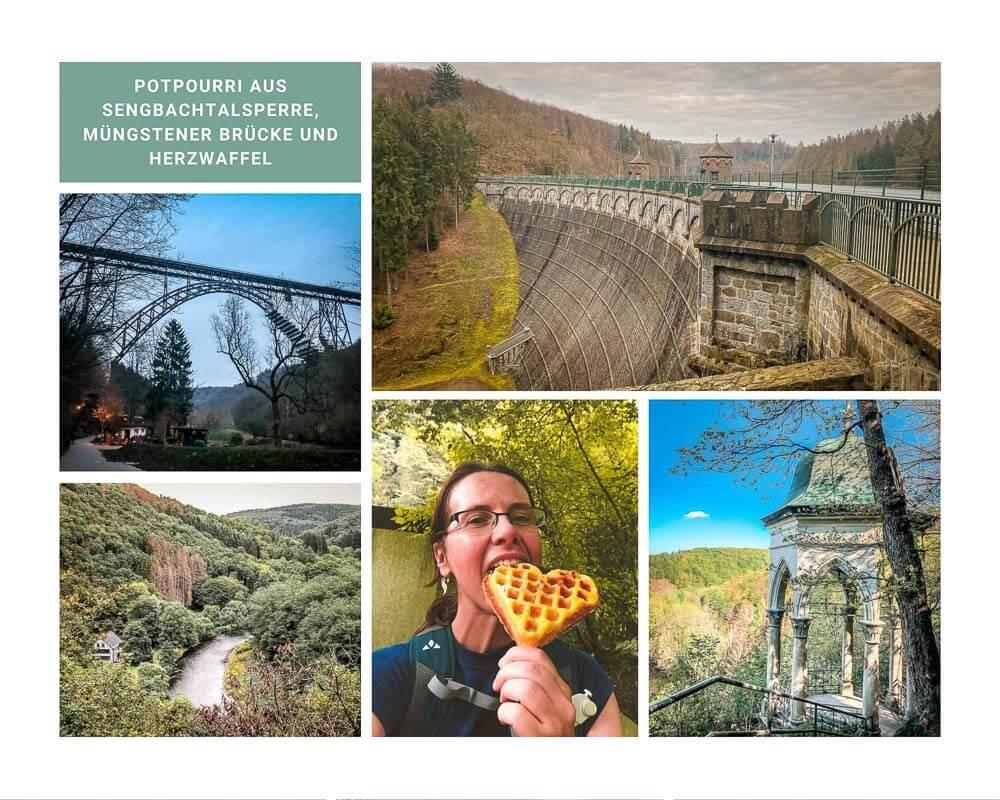 Wandern Bergisches Land Sengbachtalsperre, Müngstener Brücke und Diederichstempel