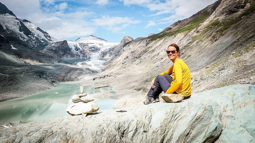 Couchflucht Sabrina Bechtold an der Gletscherpasterze des Grossglockners