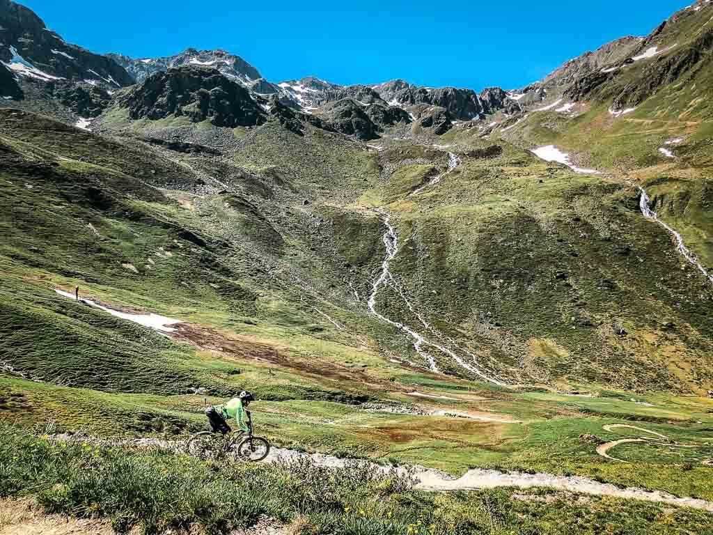 Mountainbiker im Bikepark Serfaus Fiss Ladis