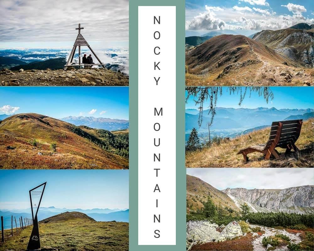 Die schönsten Orte in Österreich in den Nockbergen in Kärnten mit Berglandschaft