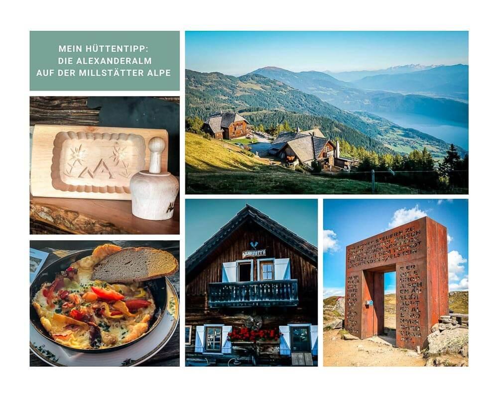 Die schönsten Orte in Österreich mit der Alexanderalm auf der Millstätter Alpe in Kärnten