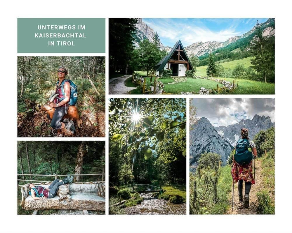 Die schönsten Orte in Österreich im Kaiserbachtal am Wilden Kaiser in den Kitzbüheler Alpen