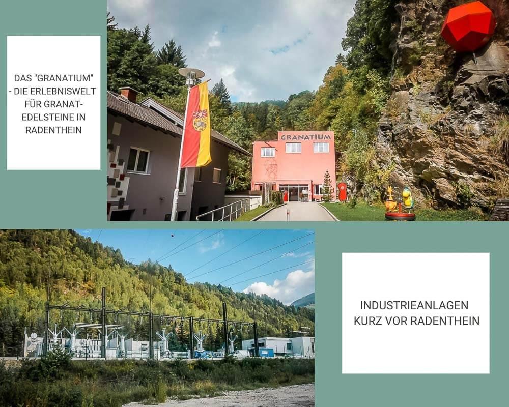Granatium und Industrieanlagen in Radenthein - Kärnten