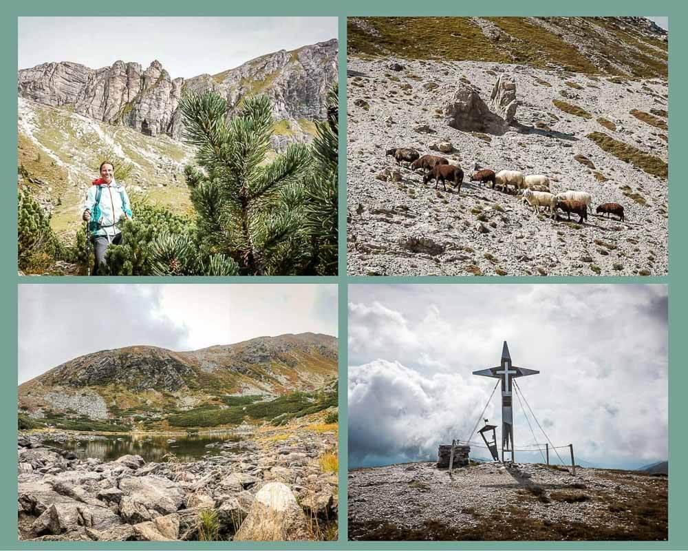 Couchflucht Sabrina Bechtold in den Nockbergen am Nassbodensee und auf dem Gipfel des Predigerstuhls
